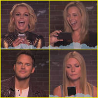 celebs read mean tweets: britney spears, lisa kudrow & chris pratt laugh off twitter hate